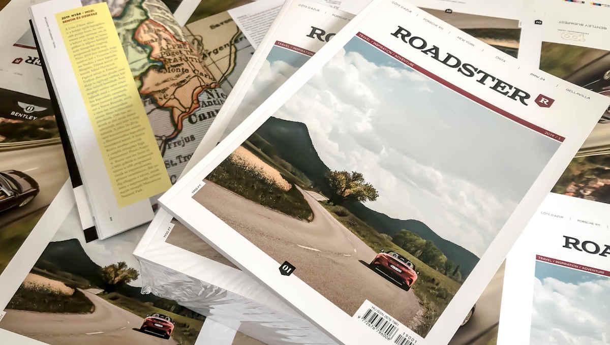Print lifestyle magazint indított a Player Media: itt a nyomtatott Roadster!